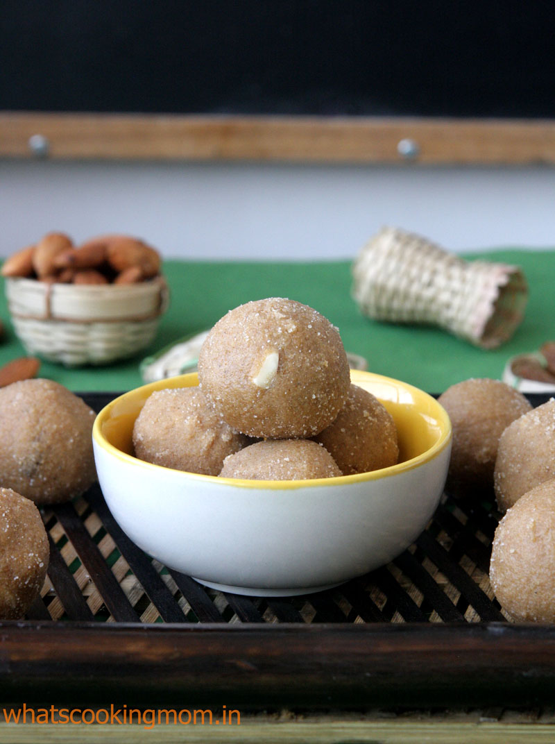 Atte ke Ladoo with step by step pics - easy, diwali sweets, traditional sweets, India