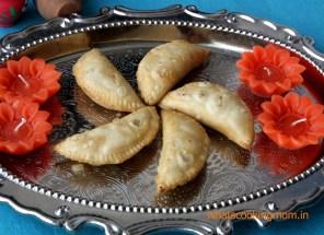 Gunjiya - Traditional Diwali recipes, Diwali sweets, festival sweets, Indian