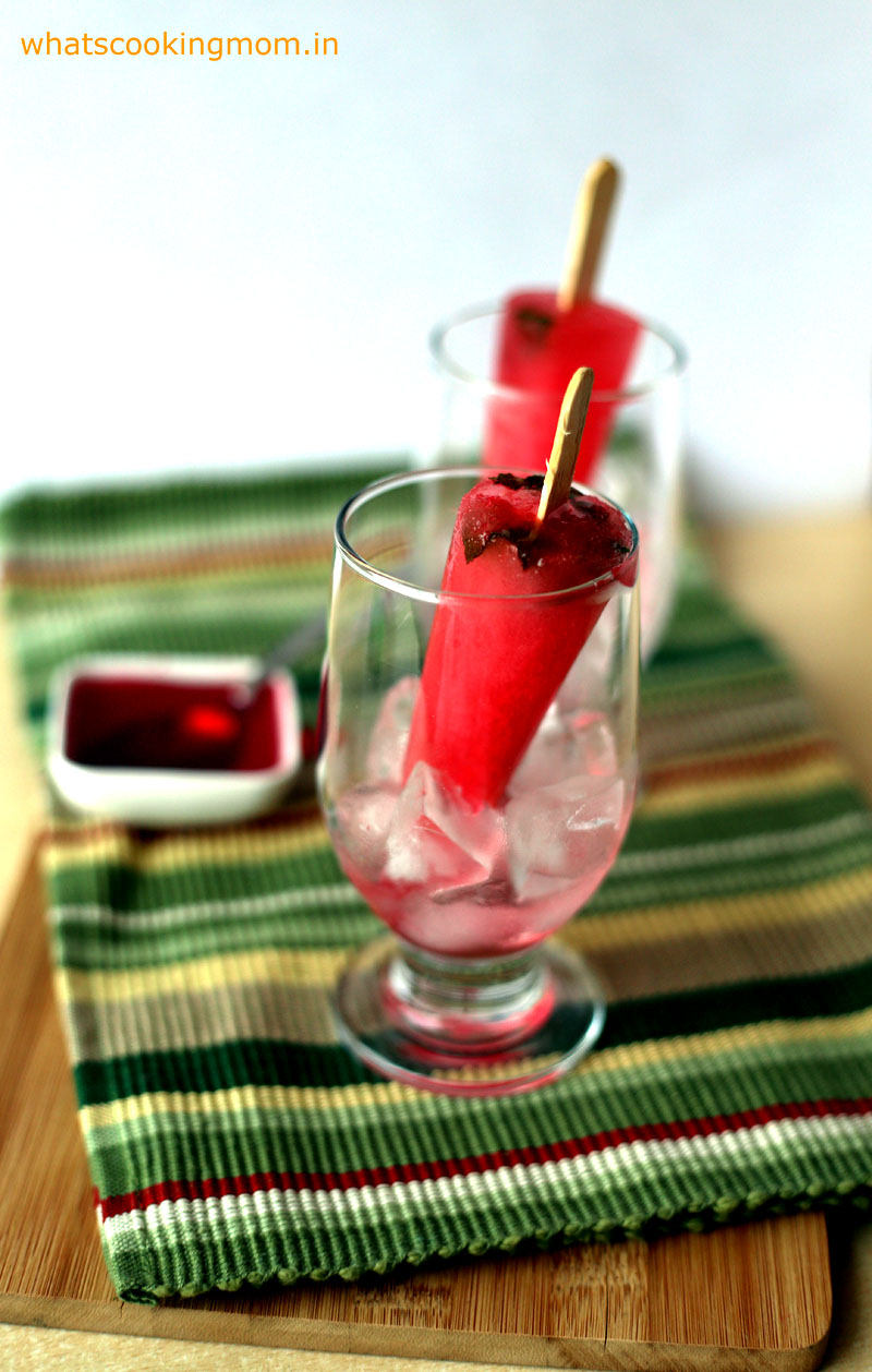 Rose popsicle