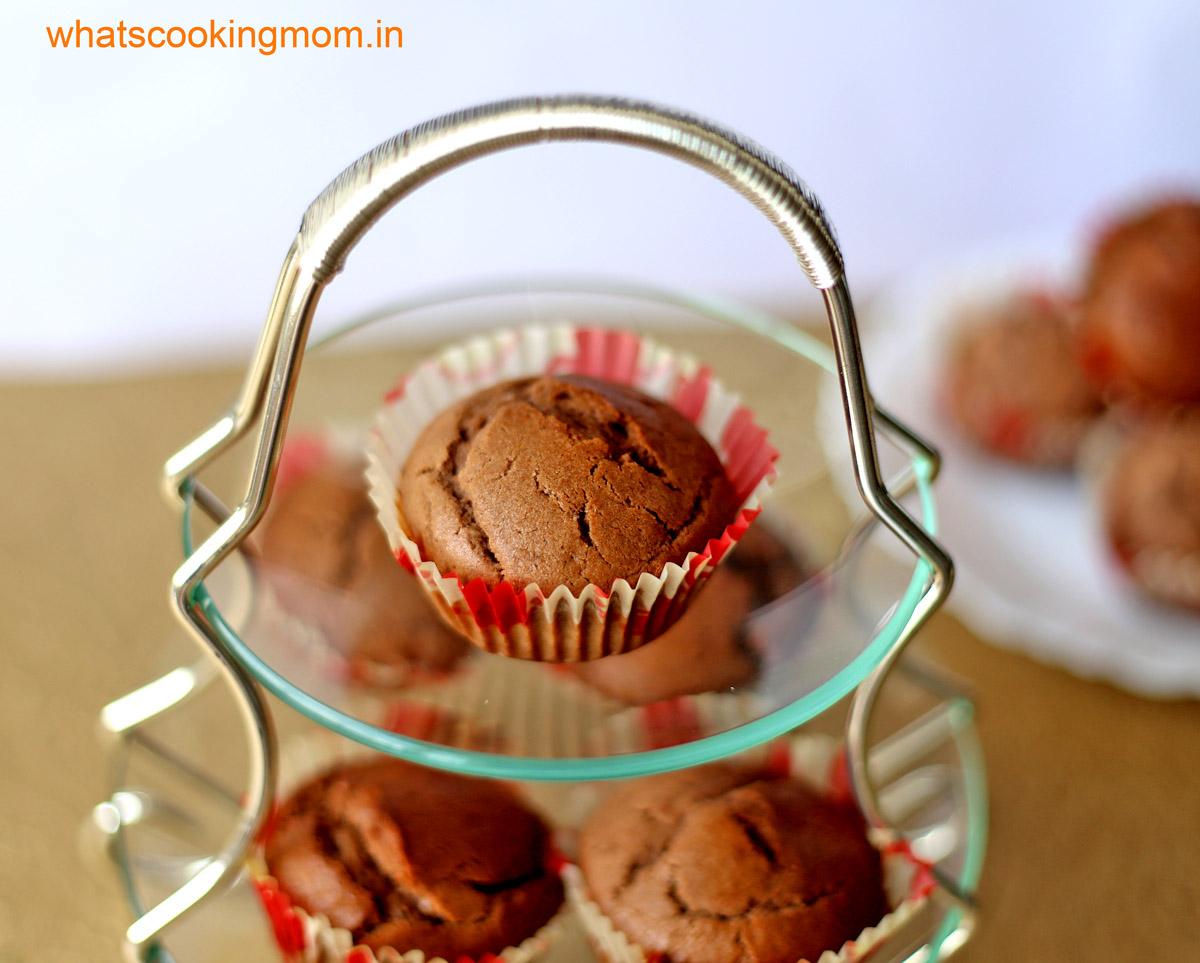 eggless chocolate muffin 1