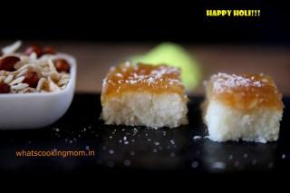 nariyal burfi with apple pie filling - Traditional Diwali recipes, Diwali sweets, festival sweets, Indian