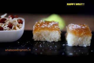 nariyal burfi with apple pie filling - Traditional Diwali recipes, Diwali sweets, festival sweets, Indian
