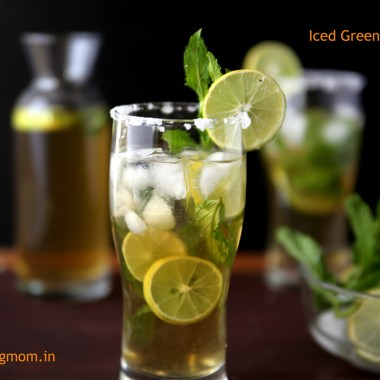 Iced Green Tea - A cool healthy refreshing drink for summers