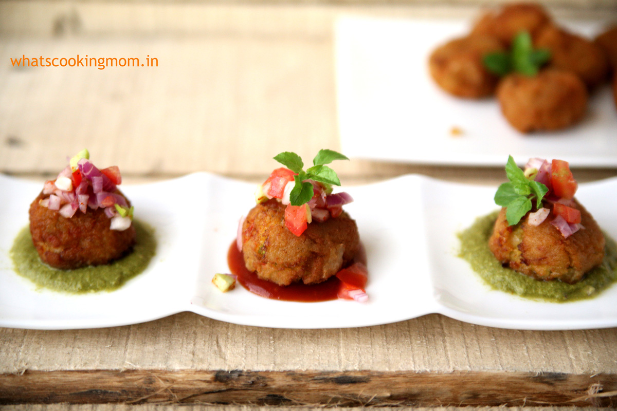 Rice balls made with pulao - perfect for breakfast, tea time snack, after school snack