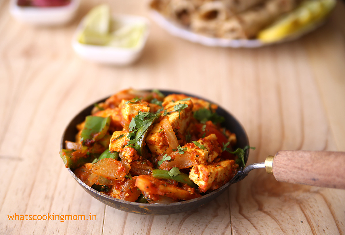Paneer Jalfrezi - Restaurant-style Indian vegetarian sidedish with Cottage Cheese and vegetables. Easy Recipe with step by step pics. Goes well with Roti, naan, and rice. #paneer #indianfood #vegetarian #paneerjalfrezi #glutenfreerecipe #cottagecheeserecipes