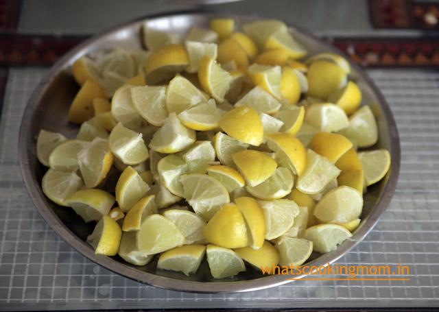 sweet lemon pickle - khatta meetha nimbu ka achar