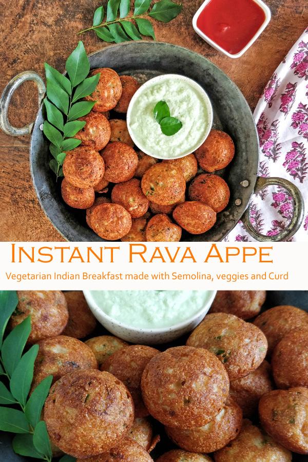 Instant Rava Appe