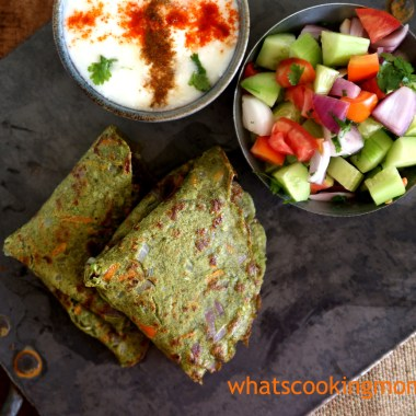 Green Moong Dal Cheela #healthy #yummy #vegetarian #snack #breakfast served with curd and green salad