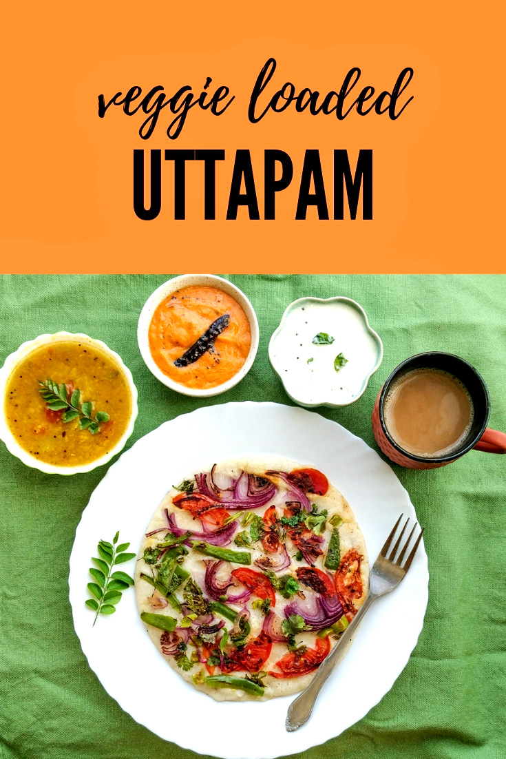 Uttapam recipe - #traditionalfood #southindian #breakfast made with fermented #dosa batter topped with vegetables