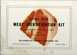 Box lid. Natural color meat identification kit.