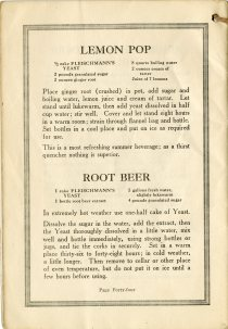 recipes for lemon pop and root beer