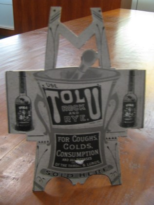 Tolu Rock & Rye advertisement, c. 1880-1881 (front standing)