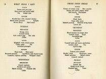sample weekly menu