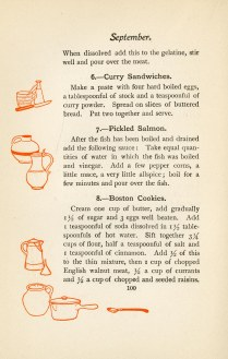 Some suggest a precursor to modern recipes--Curry Sandwiches are a variation on the modern egg salad.