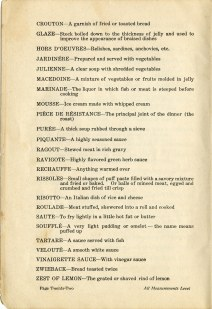 second part of glossary of cooking terms