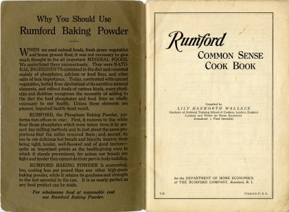 title page and argument for using Rumford brand