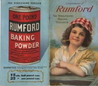 Rumford Receipts, 1909