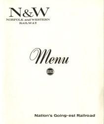 General menu, front cover