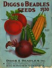 Diggs & Beadles seeds, 1930