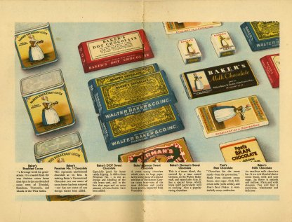Walter Baker products available in the early 1930s