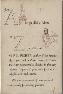 An Alphabet for Gourmets, back cover