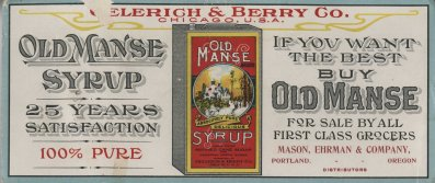 Old Mansy Syrup advertisement.
