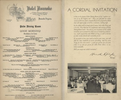 Breakfast menu and introduction