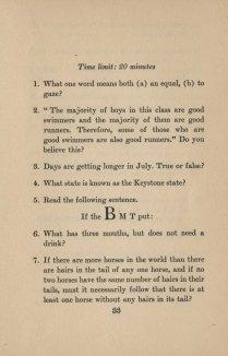 Mental Cocktails, 1933. Test #6, Page 1.
