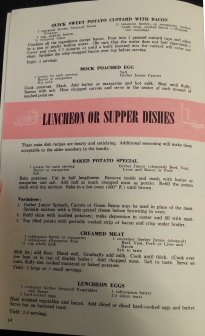 Vegetables, Luncheon or Supper Dishes