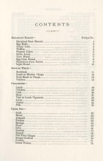 What Mrs. Fisher Knows about Old Southern Cooking. Table of contents (1 of 4).