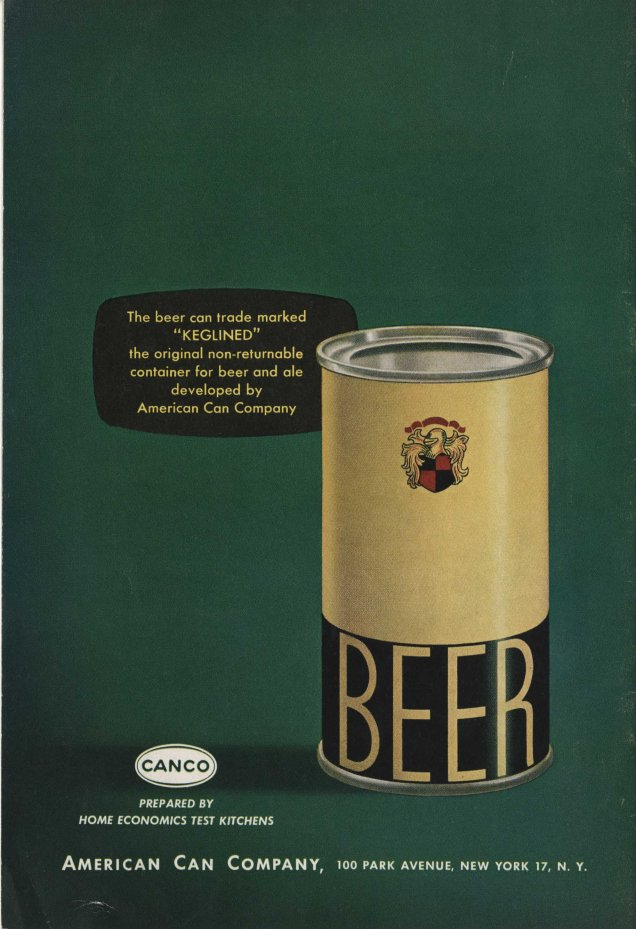 Food for Entertaining-Better with Beer, American Can Company (from Ms2013-027, Cocktail Ephemera Collection)
