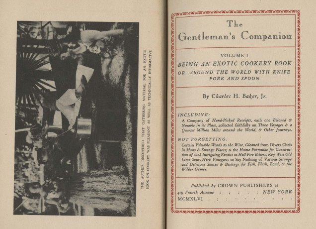 Frontispiece and title page, The Gentleman's Companion, Vol. 1, 1946