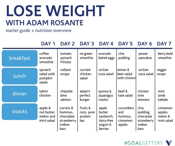 meal plan diet to lose weight