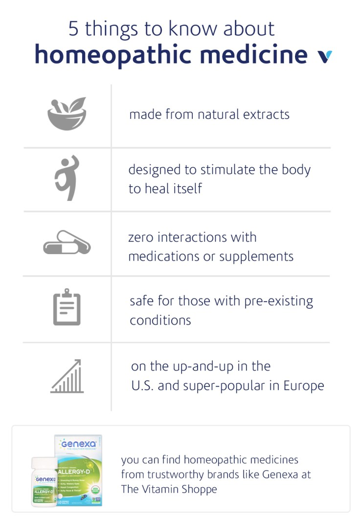 5 things to know about homeopathic medicine infographic