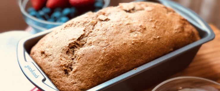 gut-healthy recipes: whole wheat banana bread