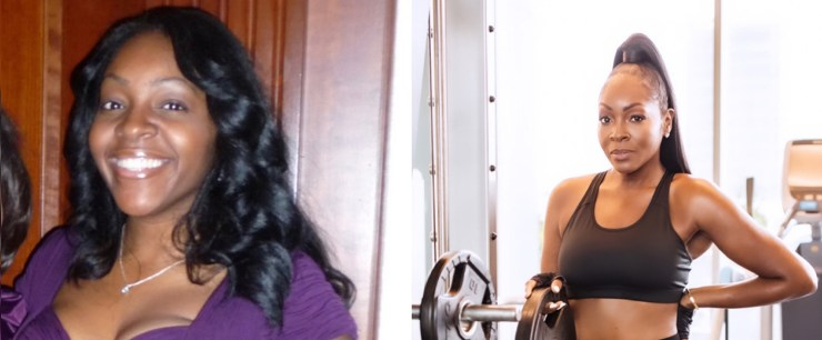 Samia Gore before and after health journey