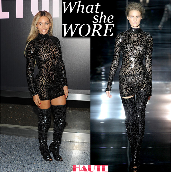 What She Wore Beyonce in Tom Ford SpringSummer 2014