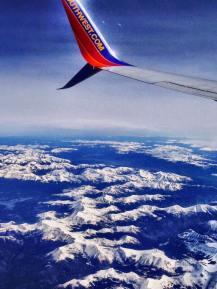 Over the Colorado Rockies