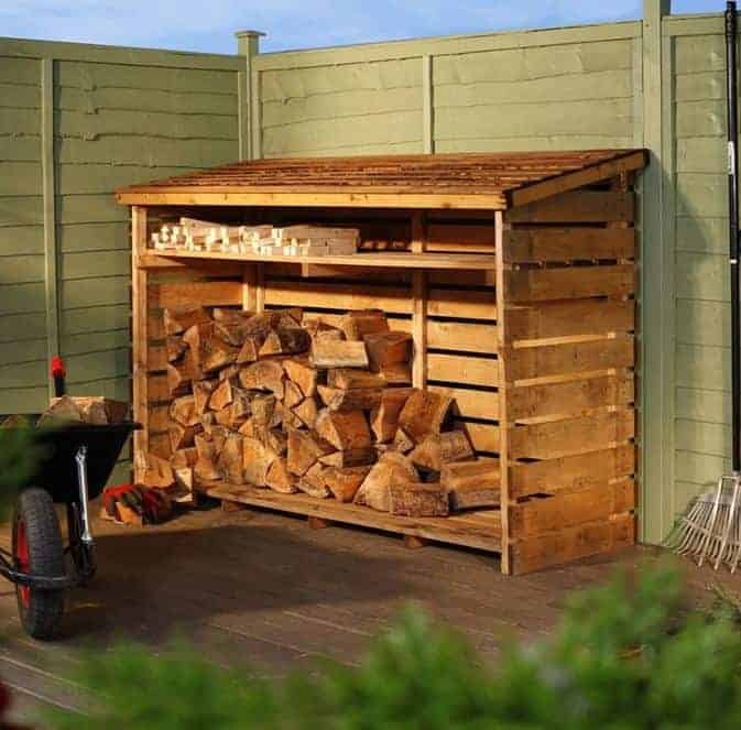 BillyOh Large Log Store With Kindling Shelf What Shed