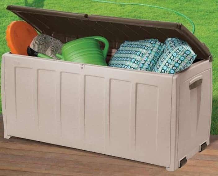 Keter Plastic Garden Storage Box With Seat 340 Litre