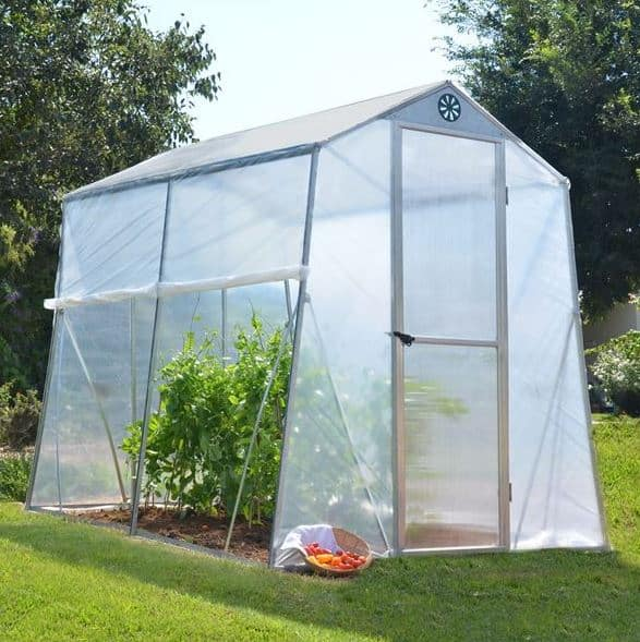 Palram 6 x 8 Allegro Portable Aluminium Greenhouse  What Shed