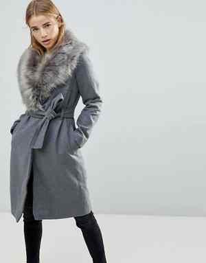Brave Soul Long Grey Coat