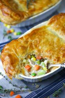 Individual Chicken Pot Pies with Puff Pastry
