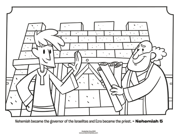 Bible Coloring Pages The Old Testament Nehemiah Bible