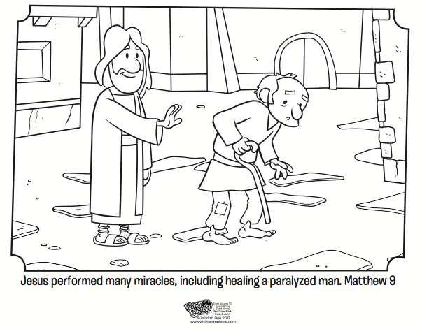 Lame Man Walks Coloring Page Coloring Pages