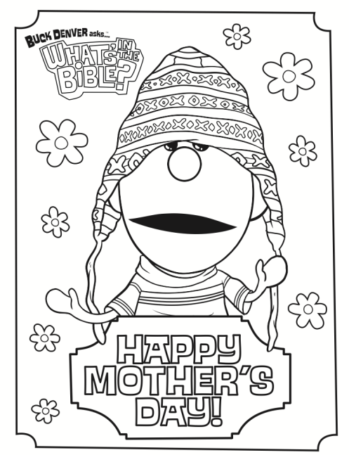 Mother S Day Coloring Page Whats In The Bible