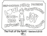 The Fruit of the Spirit Coloring Page - Whats in the Bible