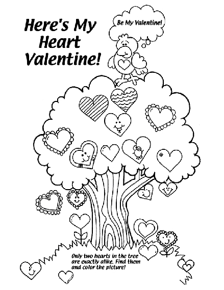 Eleven Best Valentine's Coloring Pages