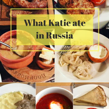 What Katie ate in Russia