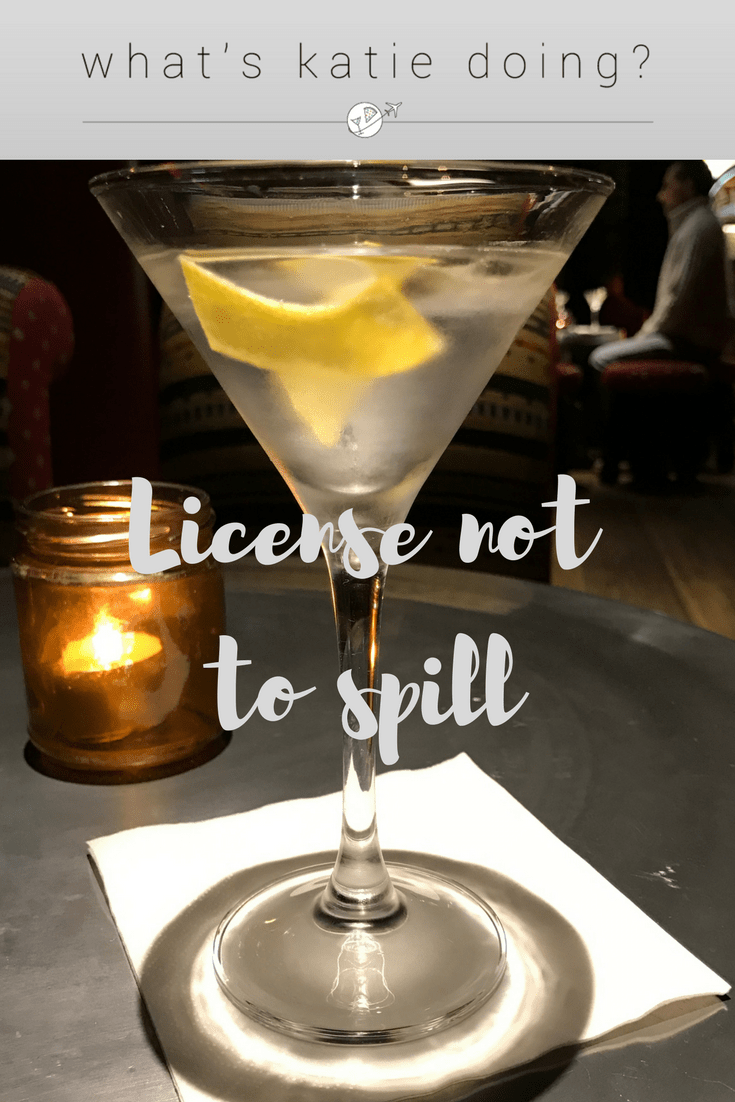 License not to spill on What's Katie Doing? blog
